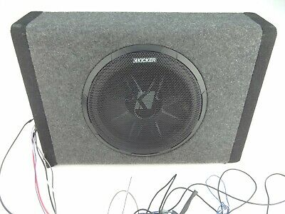 kicker bass station 10in  car powered subwoofer