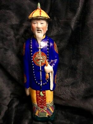 "Chinese Porcelain Qing Dynasty Emperor Kang Xi Sculpture 14.5"" High 20th c"