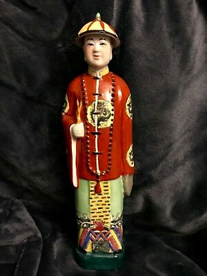 "Chinese Porcelain Qing Dynasty Emperor Qianlong Sculpture 14.5"" High 20th c"