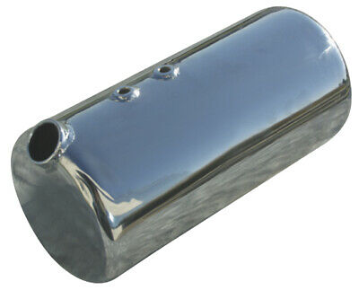 Ultima 4 Quart Chrome Plated Side Fill Round Oil Tank for Custom Universal Use