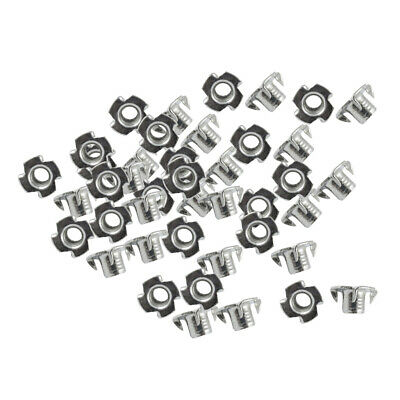 50 Pcs Four Pronged Tee Galvanized T Nuts 4 Prongs Knock Wood Four Claw Nut