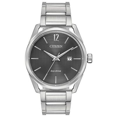 Citizen Eco-Drive CTO Men's Grey Dial Silver-Tone 42mm Watch BM7410-51H