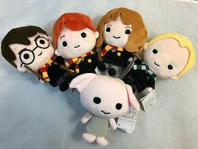 """Harry Potter Charms 7"""" Plush, Collectible Lot Of 5 - Wizarding World Rowling TM"""
