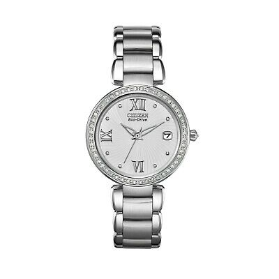 Citizen Eco-Drive Women's Marne Signature Diamond Accents 33mm Watch EO1100-57A