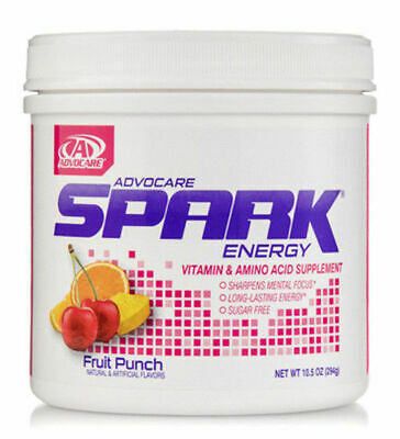 AdvoCare Fruit Punch Spark Energy Drink Canister 42 Servings FreeShipping