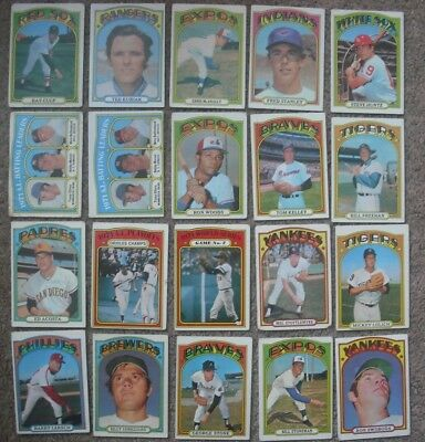 Lot of (20) 1972 Topps mostly commons plus World Series cards and one hi number
