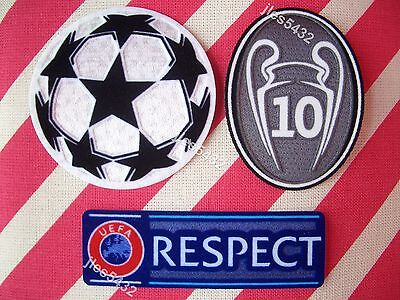 Parches Champions + 10 copas + RESPECT para camiseta Real Madrid (Desde Madrid)
