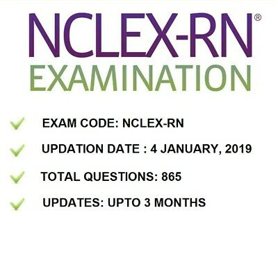 Nclex Rn Actual Exam Test Bank Of Real Questions & Answers Nclex 2019