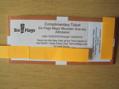 One Six Flags Magic Mountain One Day Ticket 2019