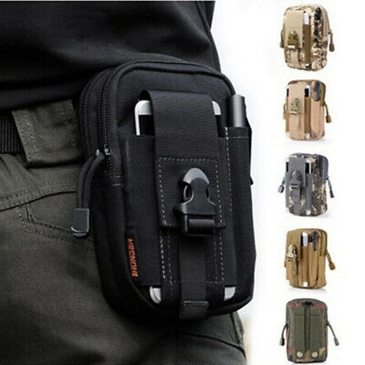 Mens Mini Tactical Waist Bag Belt Fanny Pack Waist Pouch Backpack Accessory KI