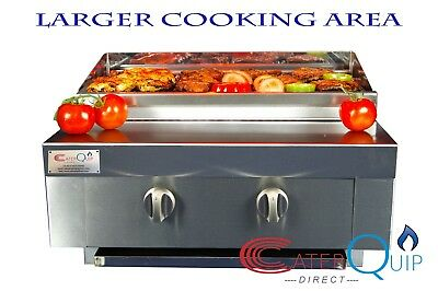 2 Burner Gas Charcoal Char Grill Bbq Heavy Duty For Commercial Use