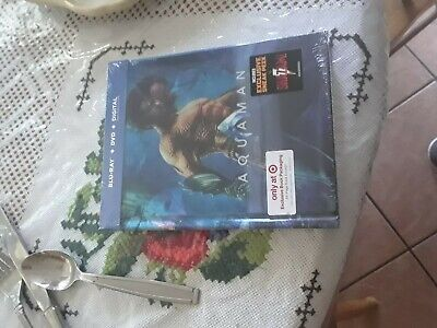 Aquaman 2019 Target Exclusive Limited Edition Blu-ray/DVD/Digital + 64 pg Book