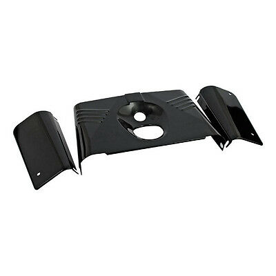 Gabel Cover Kit Fork Panel Kit Ribbed Schwarz, für Harley - Davidson FLST 86-15