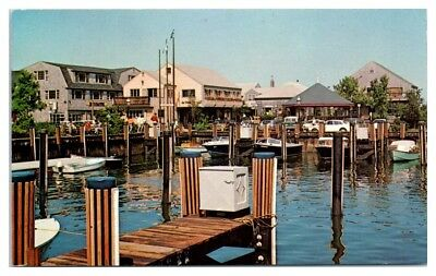 1970s Harbor Square, Nantucket, MA Postcard