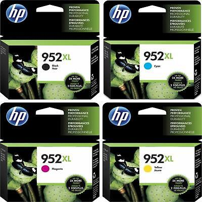 4PK HP GENUINE 952XL BLACK COLOR INK (NO RETAIL BOX) FOR Officejet Pro 7720 8710