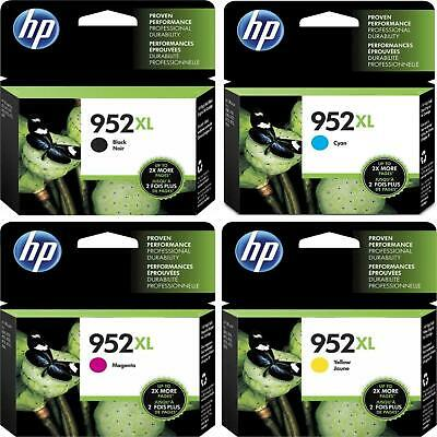 4PK HP GENUINE 952XL Ink (NO RETAIL BOX) For Officejet Pro 7720 8210 8710 8720