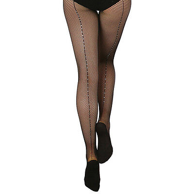 99b4ab4a2f21a NEW Capezio 3002 Black Fishnet Tights with Rhinestones Women Size S/M  Retail $52