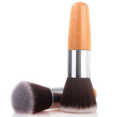Flat Top Buffing Foundation Powder Brush Wooden Handle Cosmetic Makeup Tool KI