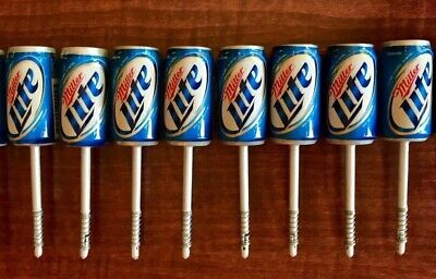 Lot of 8 New Miller Lite Beer Can Fishing Bobbers - FREE SHIPPING!!!!