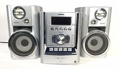 Sony CMT-HP7 AM/FM Stereo Receiver 5-CD Changer, Cassette, Aux, no remote radio