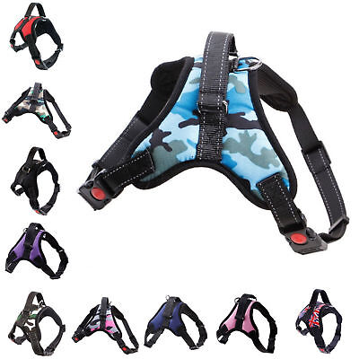 Dogs Vest Harness Leash Collar Set No Pull Adjustable For Small/Medium/Large Pet