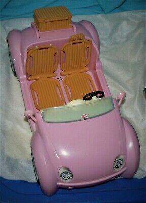 Barbie Beach Glam Cruiser Pink Convertible Sports Car MATTEL 2006