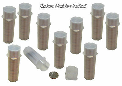 Dime Square Coin Tubes by Guardhouse, 17.9mm, 10 pack