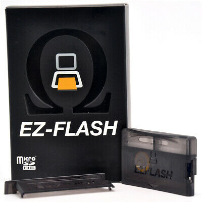 EZ Flash GameBoy Black New for Nintendo Micro DS Omega Advance GBA F0L4H