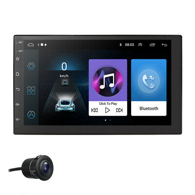 7'' HD Car Stereo Radio GPS Navi MP5 Player 2 DIN Wifi USB AM FM Android 8.1+CAM