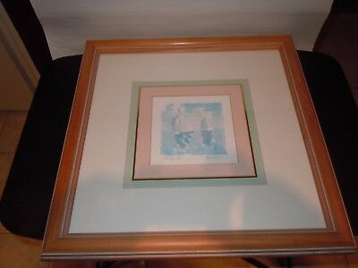 Original Ann Snow Watercolor Painting Sailing IV USA Artist Matted & Framed