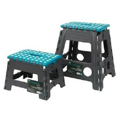Plastic Multi Purpose Folding Step Stool Foldable Seat Home Kitchen Easy Storage