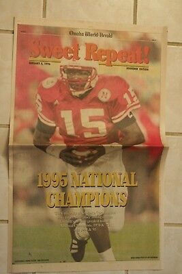Nebraska Cornhuskers 1995 Football National Championship Souvenir Newspaper
