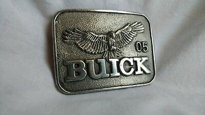 HANDMADE, VINTAGE **BUICK** Belt Buckle with Buick Hawk. Silver-toned