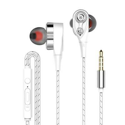 3.5mm HIFI Super Bass Headset Wired In-Ear Earphone Stereo Earbuds Headphone NEW