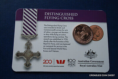 2017 25 Cent Bu Uncirculated Distinguished Flying Cross Legends Of Anzac Medal