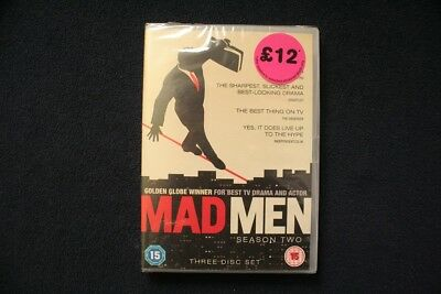Mad Men Complete Season Two/2 (3-Disc DVD Box Set 2009, new & sealed)