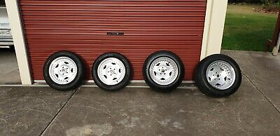 """Centreline Convo Pro 15"""" Wheels & Tyres Early Holden Stud Pattern Eh Hr Hk T G"""