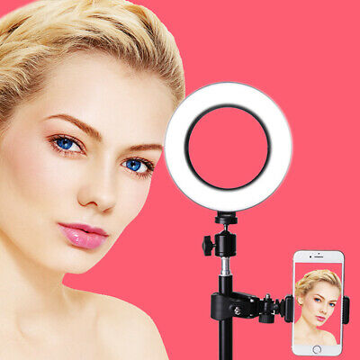 72 LED 5500K Dimmable Studio Camera Ring Light Selfie Photo Phone Video Live ins