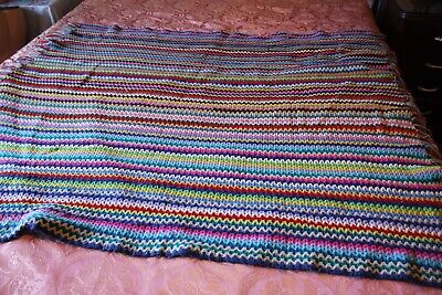 Multie Coloured  Crotched Rug.