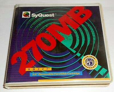 """Syquest 270 Mb 3.5"""" Removable Hard Disk Cartridge"""