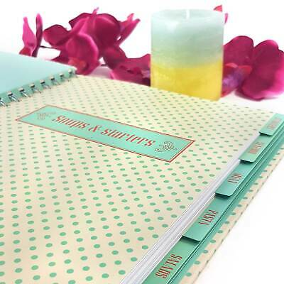 Recipe Journal ORGANISE YOUR RECIPES! 180 blank pages 6 Tabs Sweets Meat Pasta +