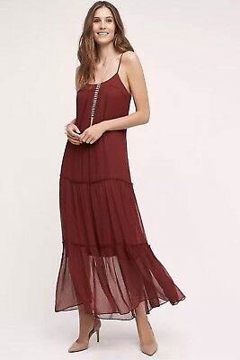 8f2c1b38d069 Anthropologie Saffa Chiffon Maxi Dress In Red By Floreat Size Sz Small S