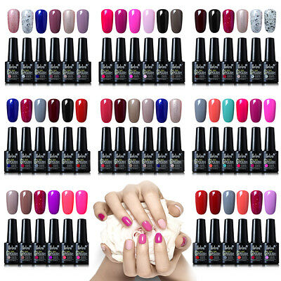 Belen 6 colore Kit Esmalte Semipermanente de Uñas Gel UV LED Manicura Top Base