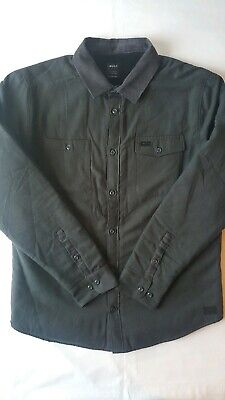RVCA Victory Sherpa Lined Button-Up Flannel Men's Shirt Jacket NEW NWT Large