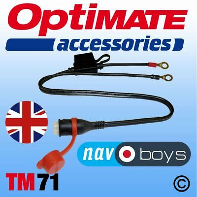 Optimate / Accumate TM71 Fused Weatherproof Eyelet Lead with Rubber Cover