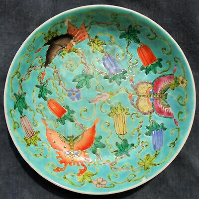 CINA (China): Old and fine Chinese porcelain saucer