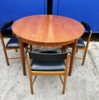 McIntosh Extending Mid Century Dining Table & 3 Chairs like G-Plan