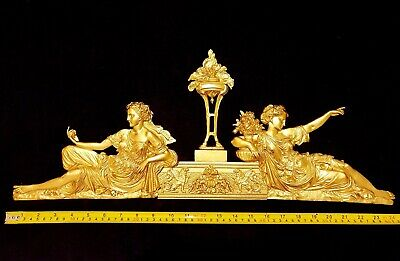 Antique Style Louis Xvi Empire Gilt Decor Wall Door Pediment Moulding Decoration