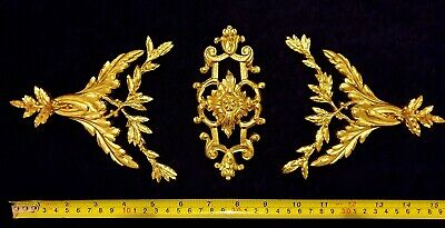 Decorative Moulding French Louis Xvi Antique Gold Gilt Or White Resin Decoration
