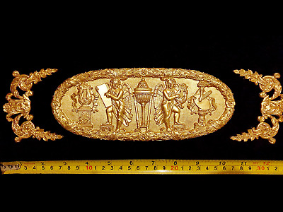 Decorative Moulding French Antique Empire Gilt Or White Resin Wall Decoration